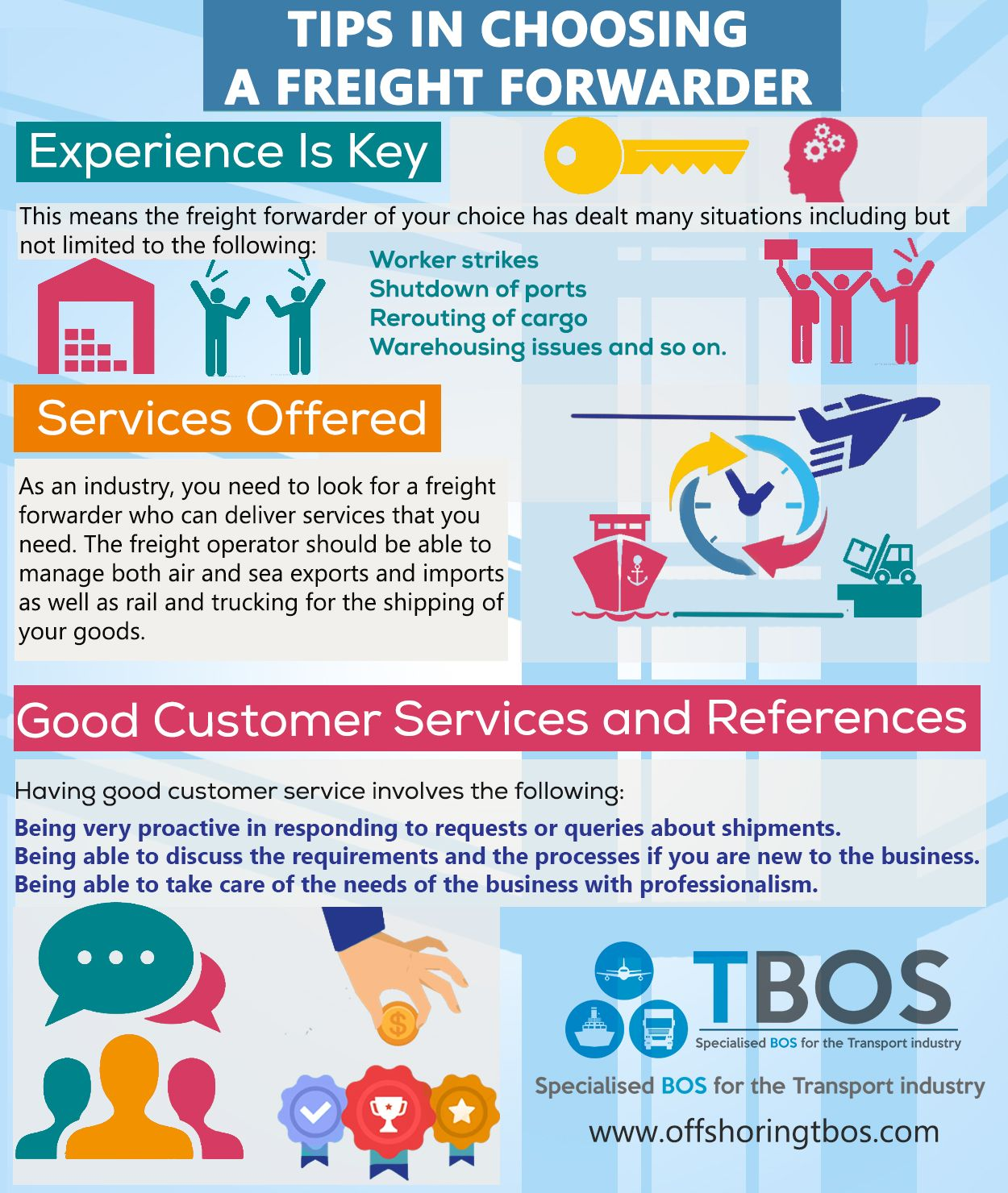 Tips in Choosing a Freight Forwarder   Infographics   Layout