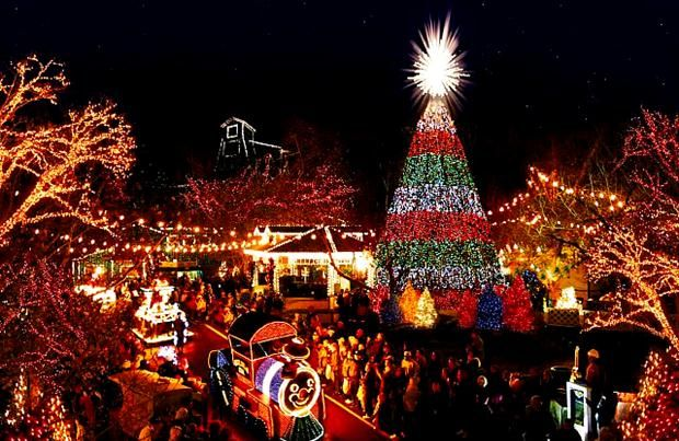 These 17 Places In North Carolina Have The Most Unbelievable Christmas Decorations Silver Dollar City Christmas Town Christmas Light Displays