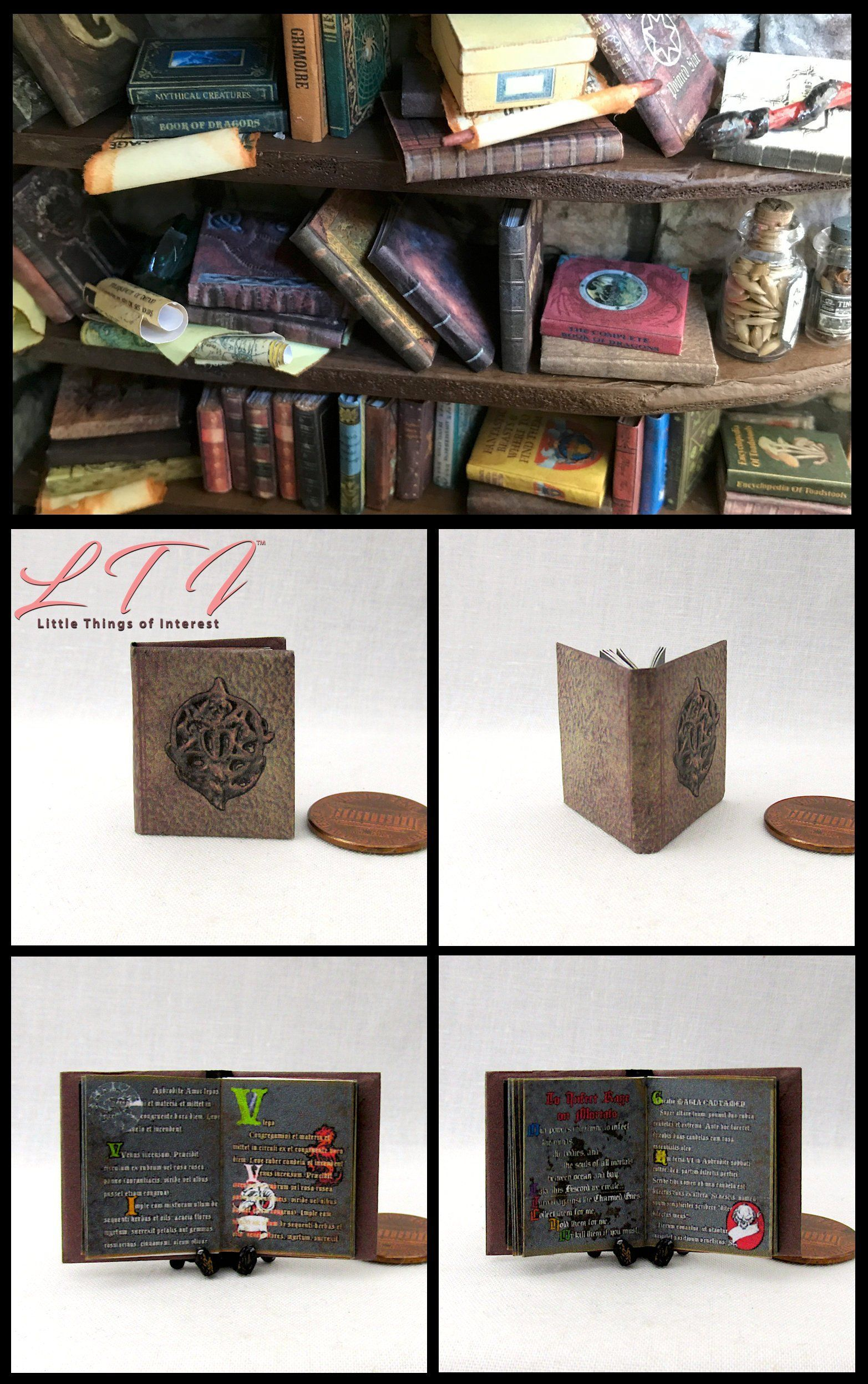GAME OF THRONES 5 Miniature Books 1:12 Dollhouse Scale A SONG OF ICE AND FIRE