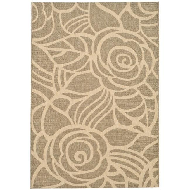 This Outdoor Rug Has A Coffee Background And Displays Stunning