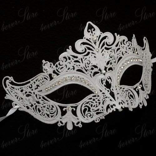 Common Masquerade Mask Laser Cut Filigree Metal Mardi Gras Prom Ball Venetian