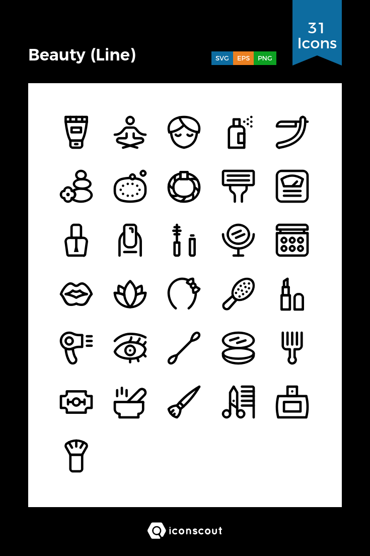 Download Beauty Line Icon Pack Available In Svg Png Eps Ai Icon Fonts Line Icon Icon Pack Icon