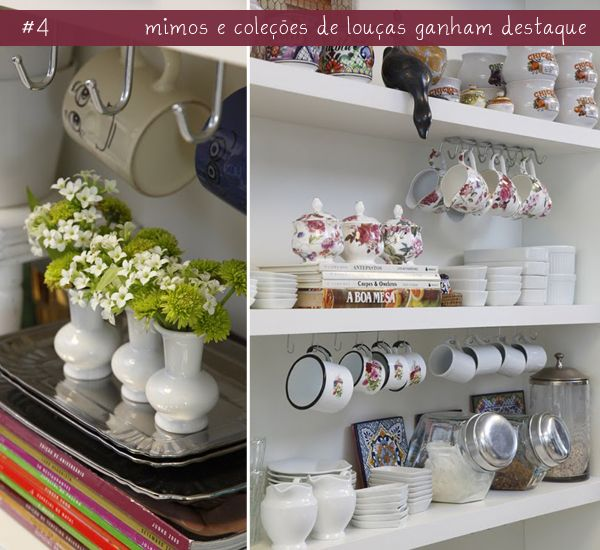 objeto decoracao cozinha : objeto decoracao cozinha:open shelves in the kitchen More