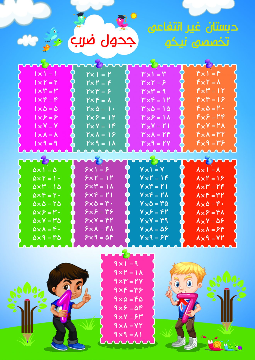 تراکت جدول ضرب تراکت جدول ضرب مهد کودک و پیش دبستانی بنر مهد کودک طرح تراکت مهد کودک بنر مهد کودک کار Mario Characters Character Fictional Characters