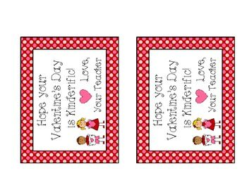 Kinderific Valentine Card from Your Teacher freebie  Books Worth