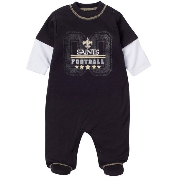sports shoes 30b56 db4b3 New Orleans Saints Infant Sleep N Play Sleeper - Black ...