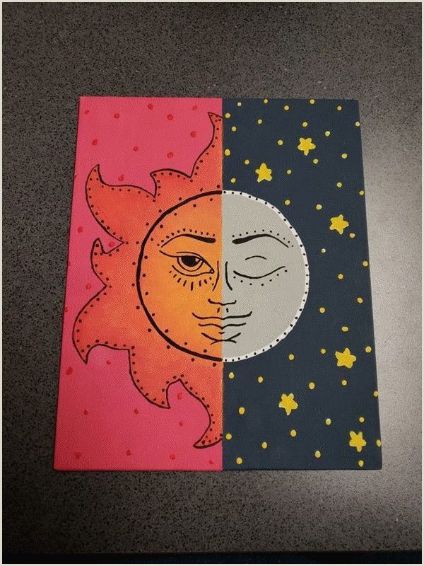 Easy Cute Things To Paint For Beginners In 2020 Hippie Painting Canvas Drawing Simple Canvas Paintings