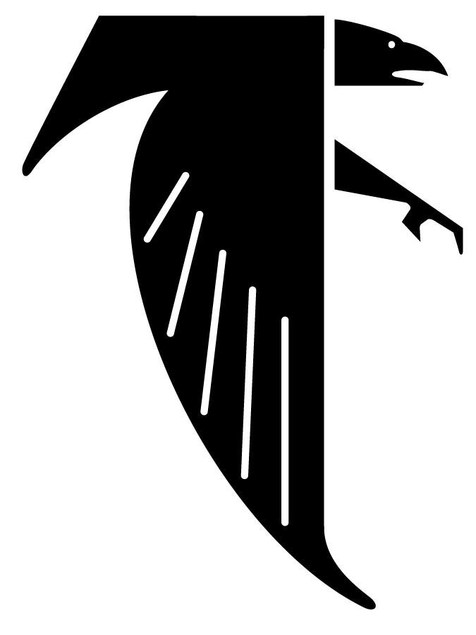 Atlanta Falcons Primary Logo 1966 A Black Falcon Forming A Letter F Atlanta Falcons Logo Atlanta Falcons Atlanta Falcons Art