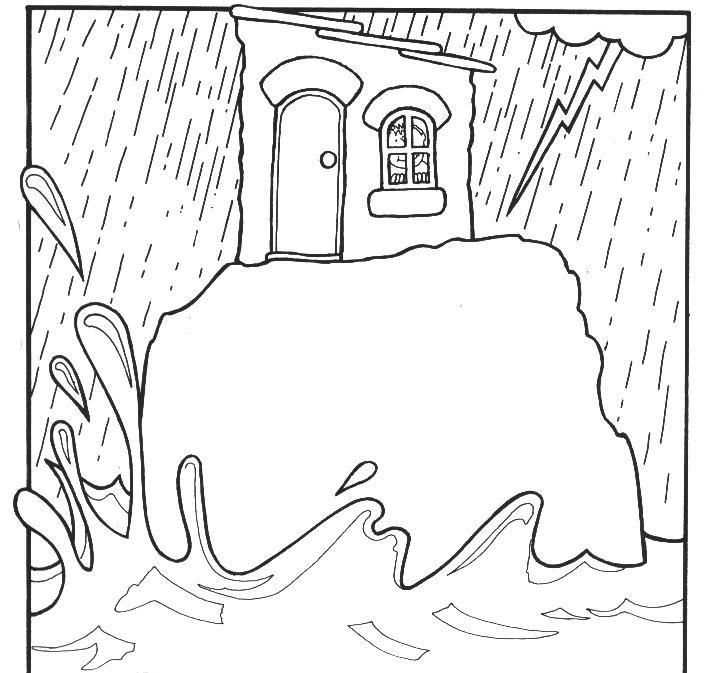 Ilustraciones De La Parábola De Los Dos Cimientos O De La Casa Sobre