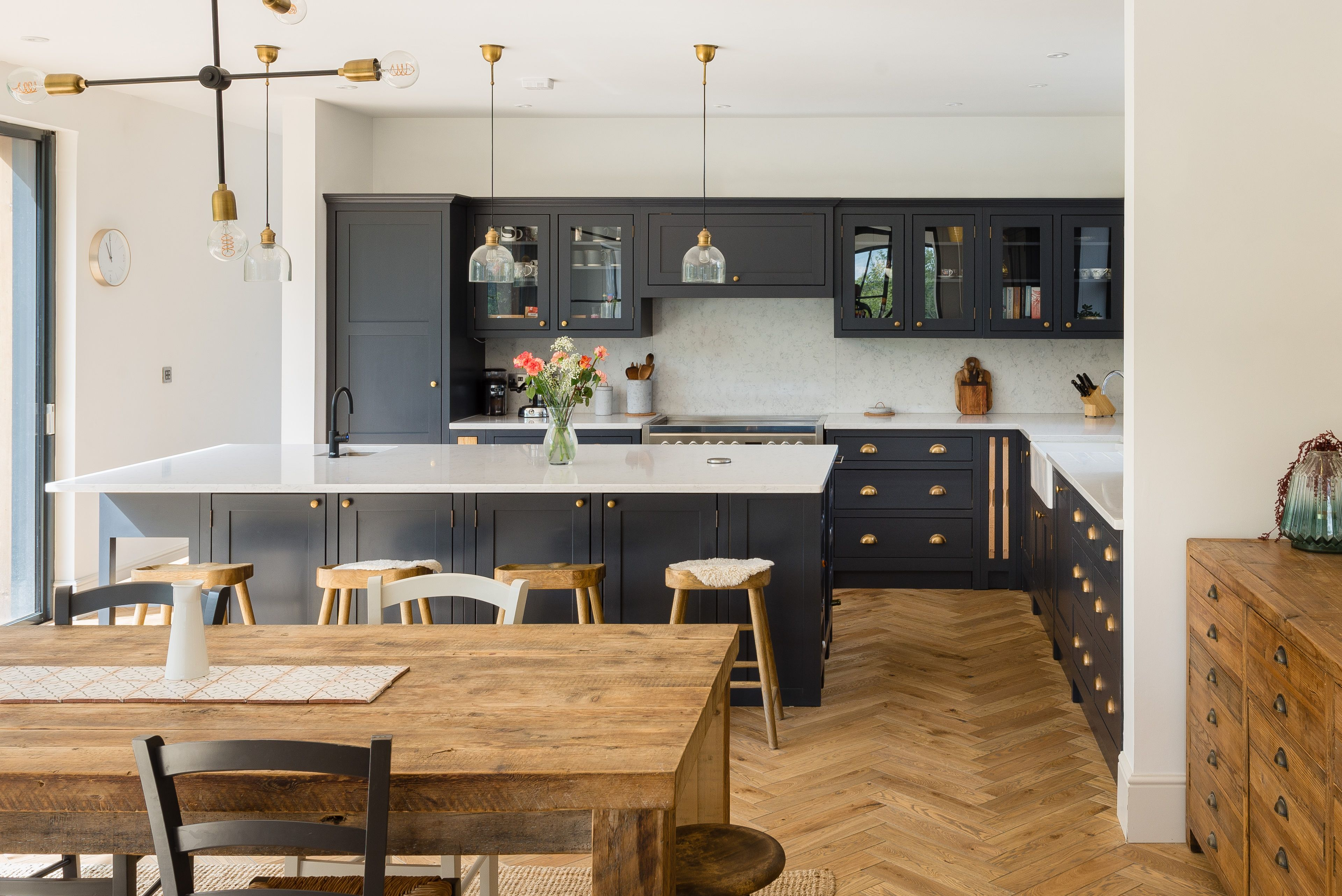 Www Theshakerkitchen Co With Images Open Plan Kitchen Living