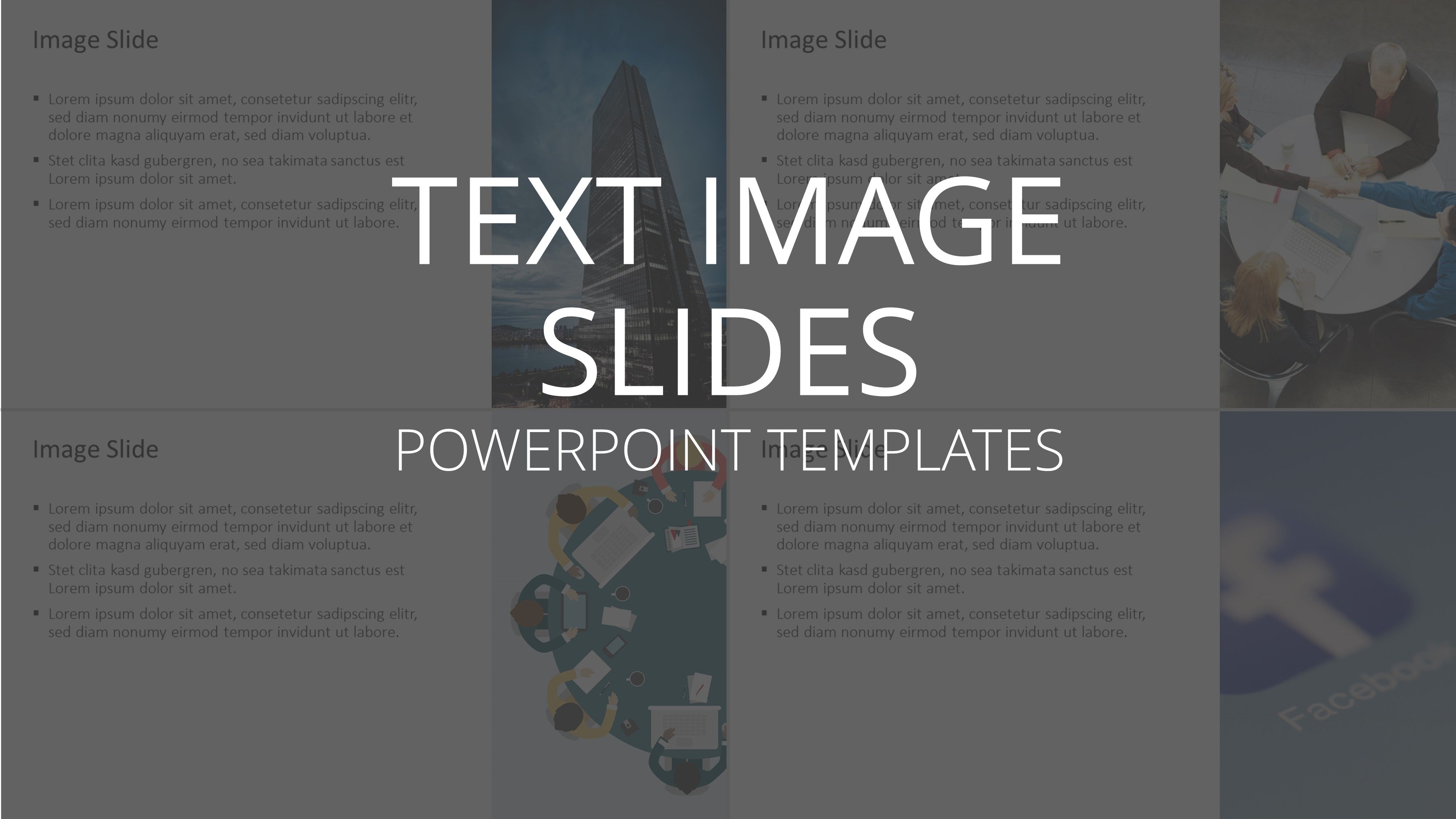 Use our text image slides to create a successful