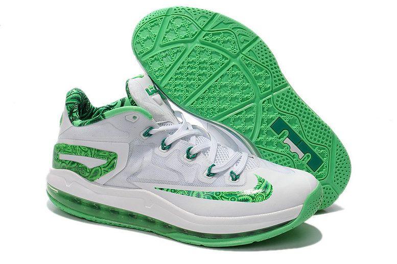 Lebron 11 Low White Light Lucid Green