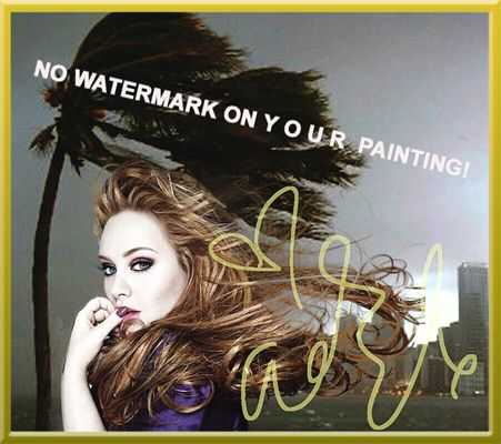 "COOL ADELE wall decoration for your home! Direct-Import from Miami, USA  40x30cm (15.75""x11.81"") Questions: Send me a SMS: (+ 49-151) 2094-9859"