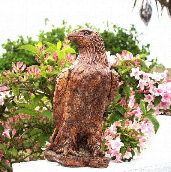 Eagle Statue Stone Garden Ornament Lawn Decor Made In