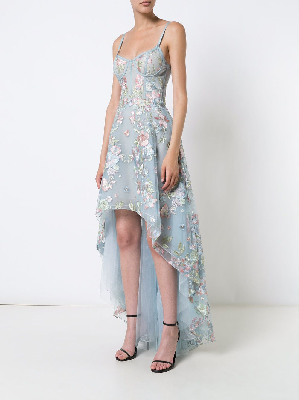 Embroidered High Low Dress