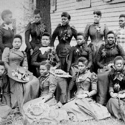 Four African American Women at Atlanta University c1900 Vintage Photo Reprint