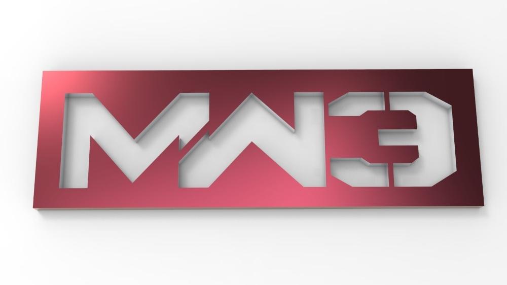 Modern Warfare 3 Logo Badge 3d Asset Cgtrader Modern Warfare Prints Badge
