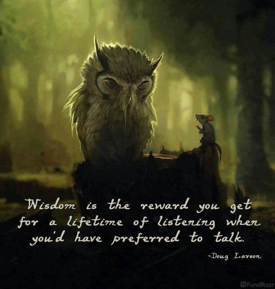 Truth be told... | Wisdom quotes, Owl quotes, Wisdom