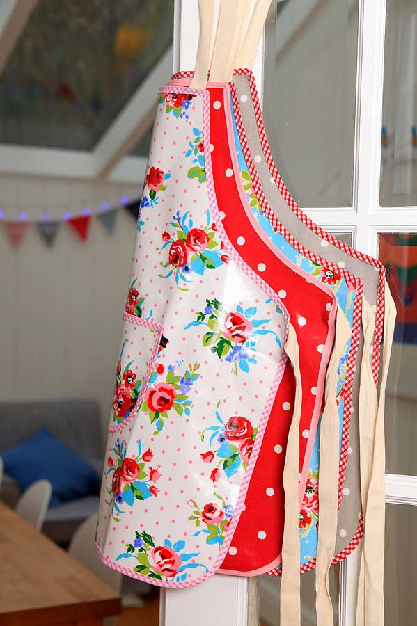 Oilcloth Aprons Vintage Inspired Apron Apron Strings