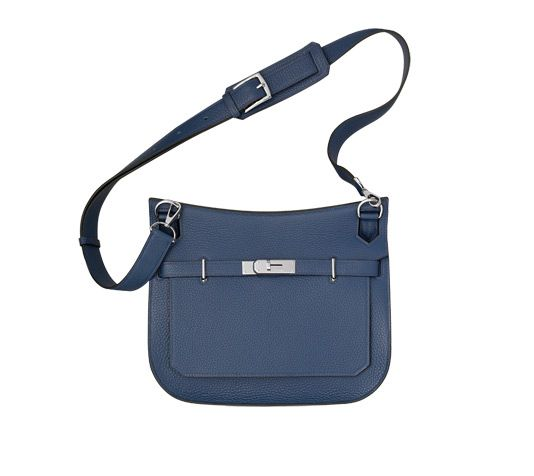 4ba16d0ccb Jypsiere 28 Hermes unisex shoulder bag in sapphire blue taurillon clemence  leather (size 28)