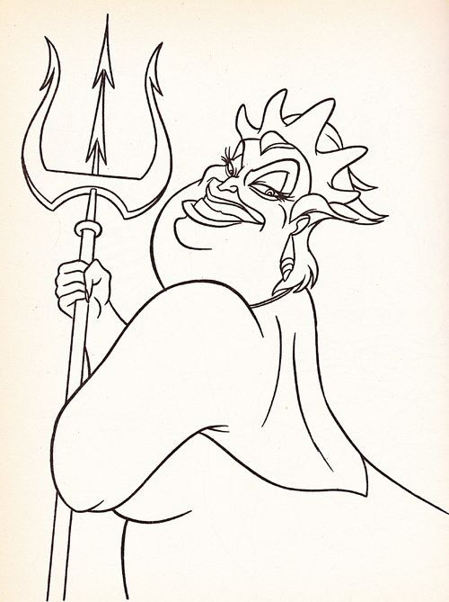 disney ursula coloring pages google search