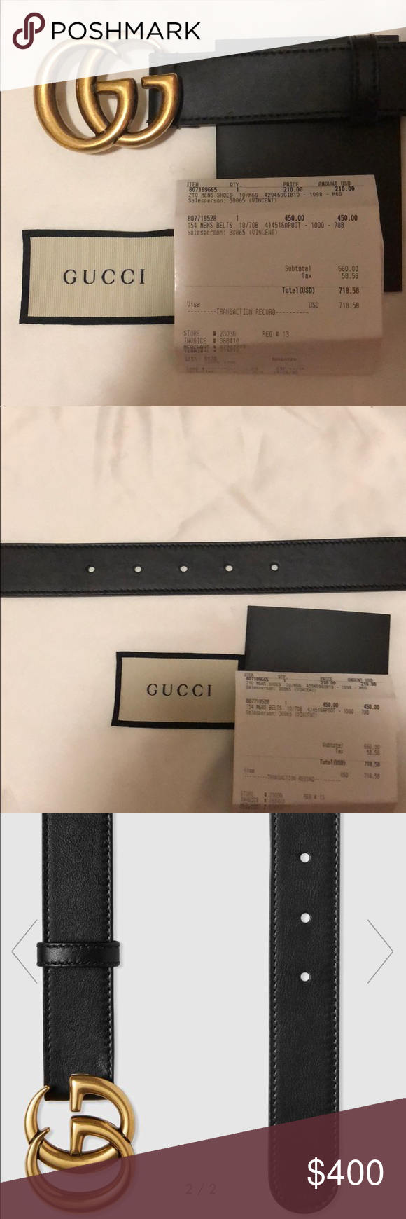 8105180af Gucci 1 inch Leather belt with Double G buckle 100% authentic - comes with  receipt and dust bag Purchased on 7/7/18 at fifth avenue - No flaws at all  ...