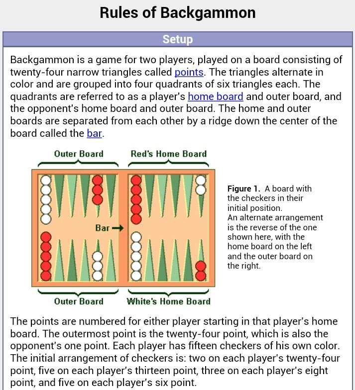 picture relating to Printable Backgammon Board named Backgammon board set up and laws. game titles Game titles towards perform