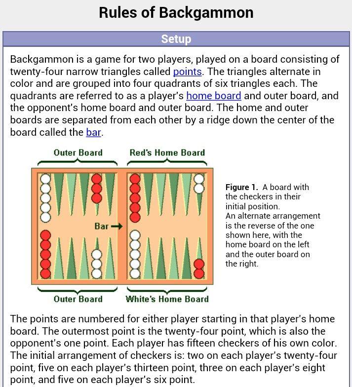 Backgammon Spielregeln Regeln