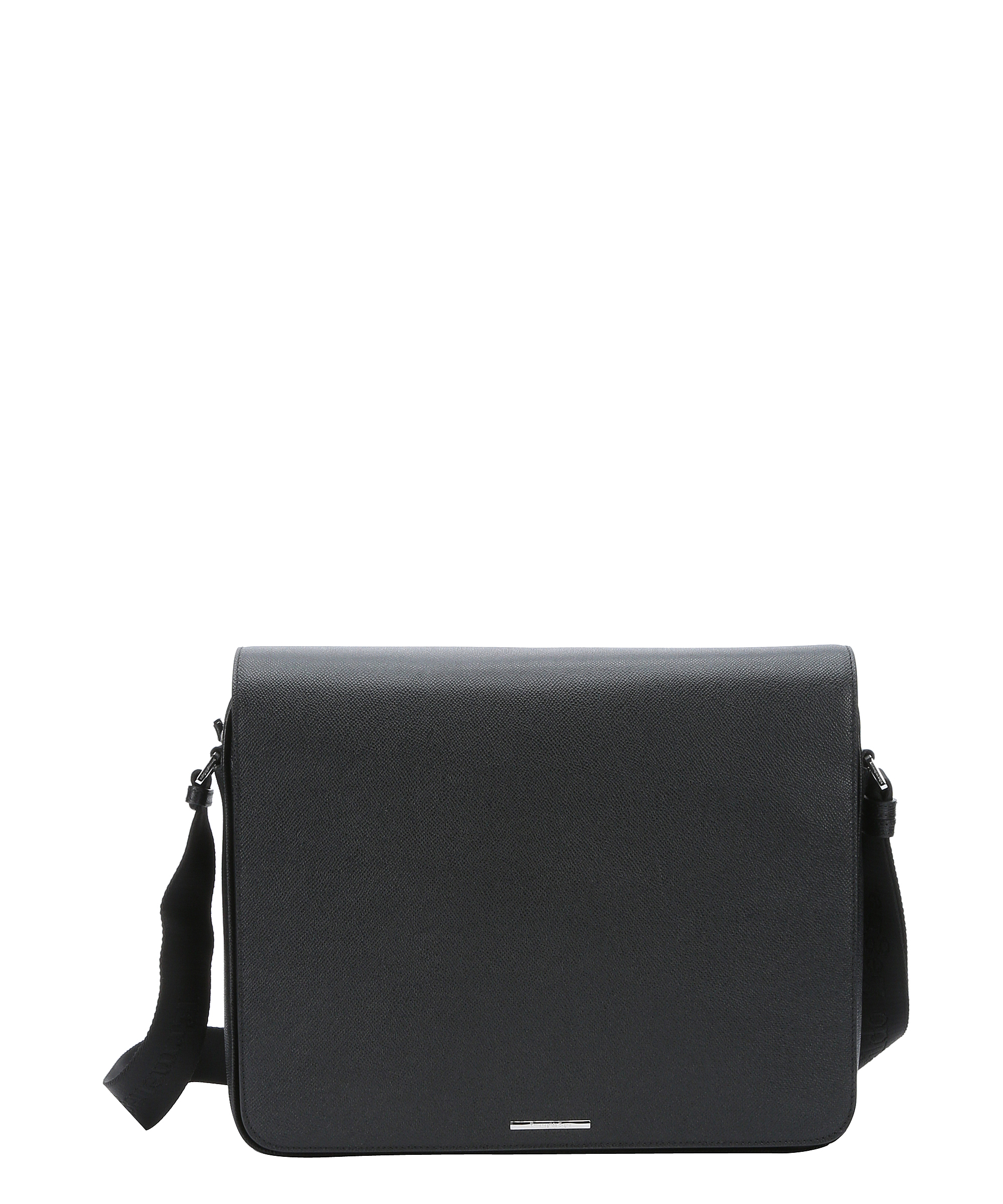 f8baa6c5fda3 Ermenegildo Zegna black leather messenger bag | zegna | Black ...