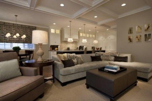 Wall Color; Sectional; Clean look of the room by erin