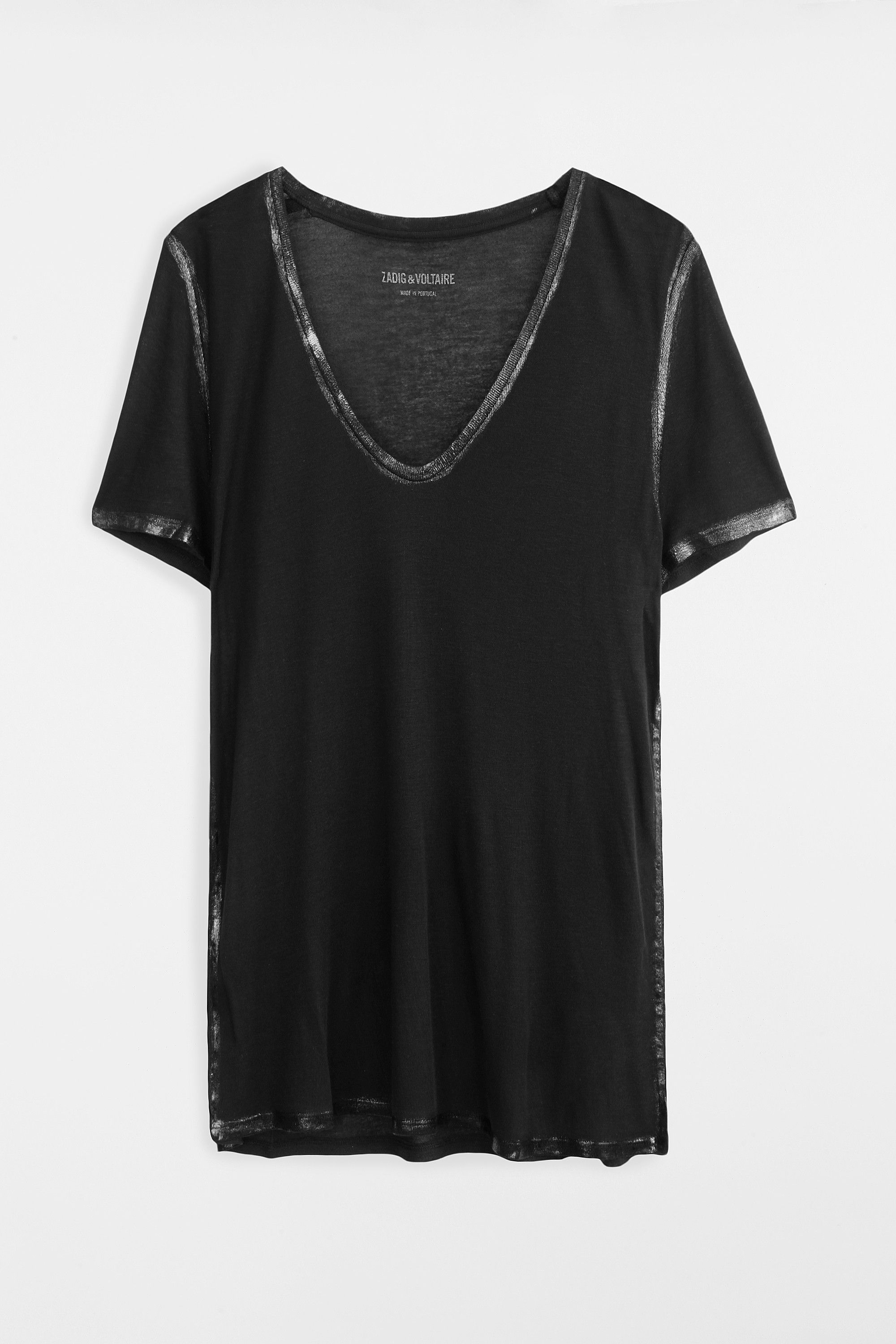Free Shipping Visit shortsleeved buttoned T-shirt - Black Zadig & Voltaire The Cheapest For Sale Cheap Wholesale ZxszDD