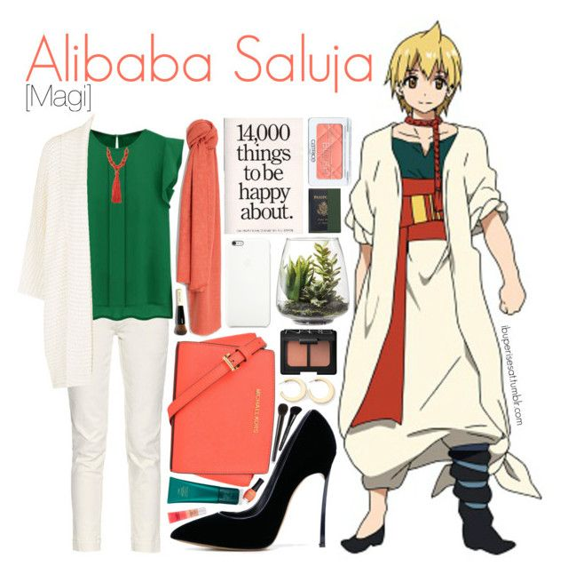 Alibaba Saluja [Magi] by anggieputeri on Polyvore featuring polyvore, ファッション, style, Earnest Sewn, Casadei, MICHAEL Michael Kors, Royce Leather, ABS by Allen Schwartz, MANGO, NARS Cosmetics, Surratt, Bare Escentuals, Oribe, ORLY, Threshold, anime, magi and AlibabaSaluja