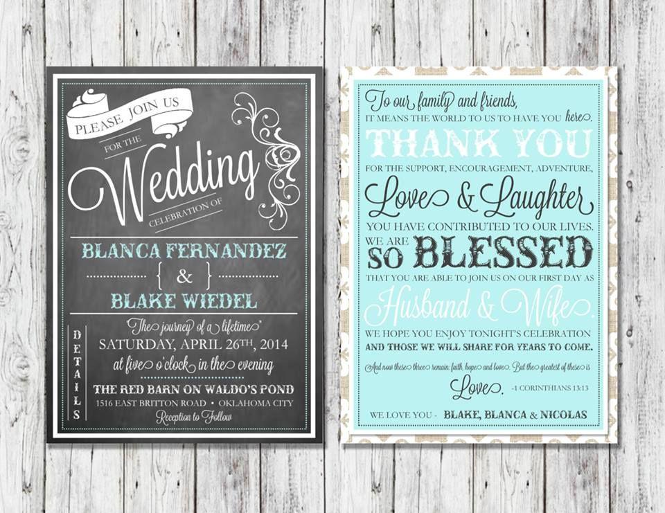 Tiffany Blue Wedding Invitations Kits: Vintage Rustic Burlap And Lace Tiffany Blue Chalkboard