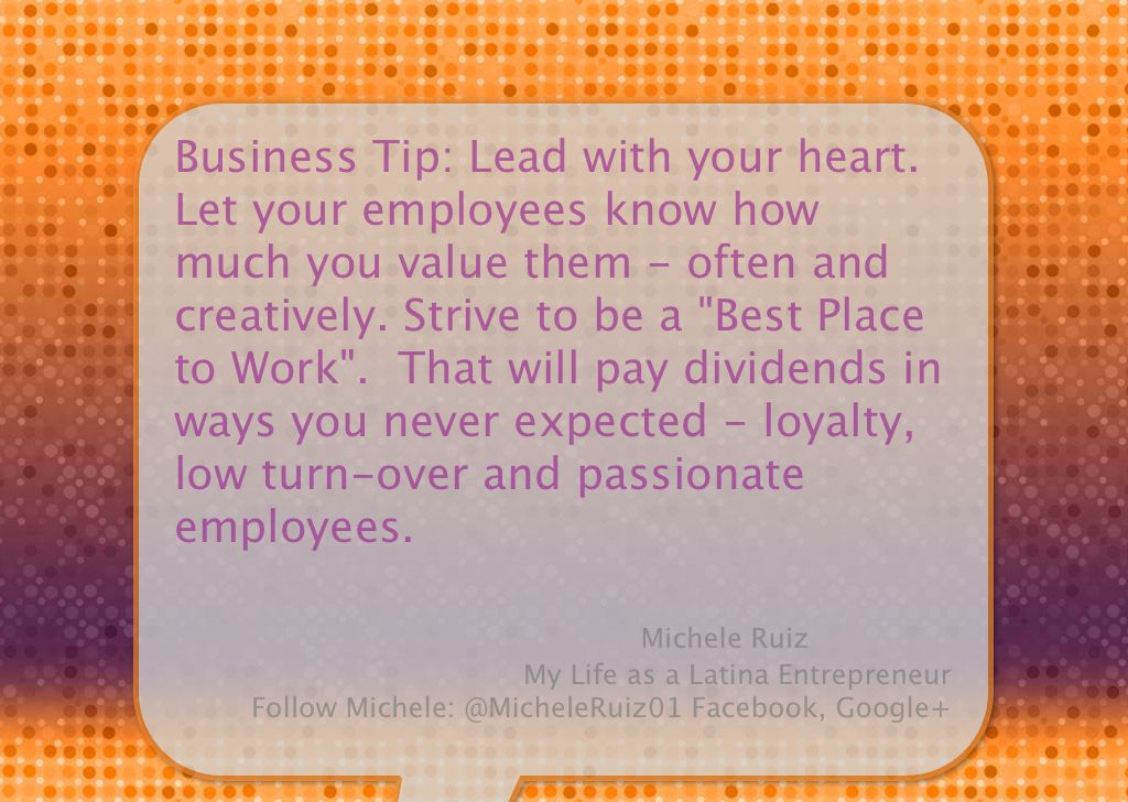 Business tip lead with your heart let your employees