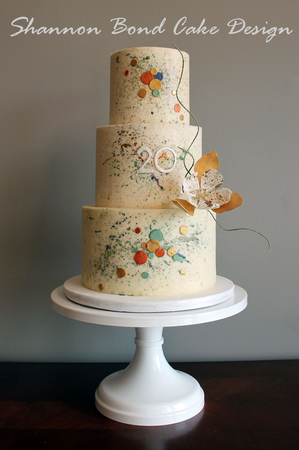 Abstract Art Cake Design