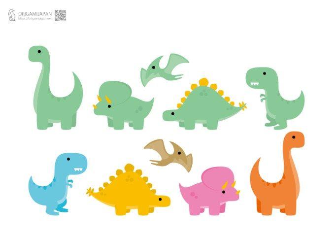キュートな恐竜の塗り絵幼児子供向け無料ダウンロード印刷