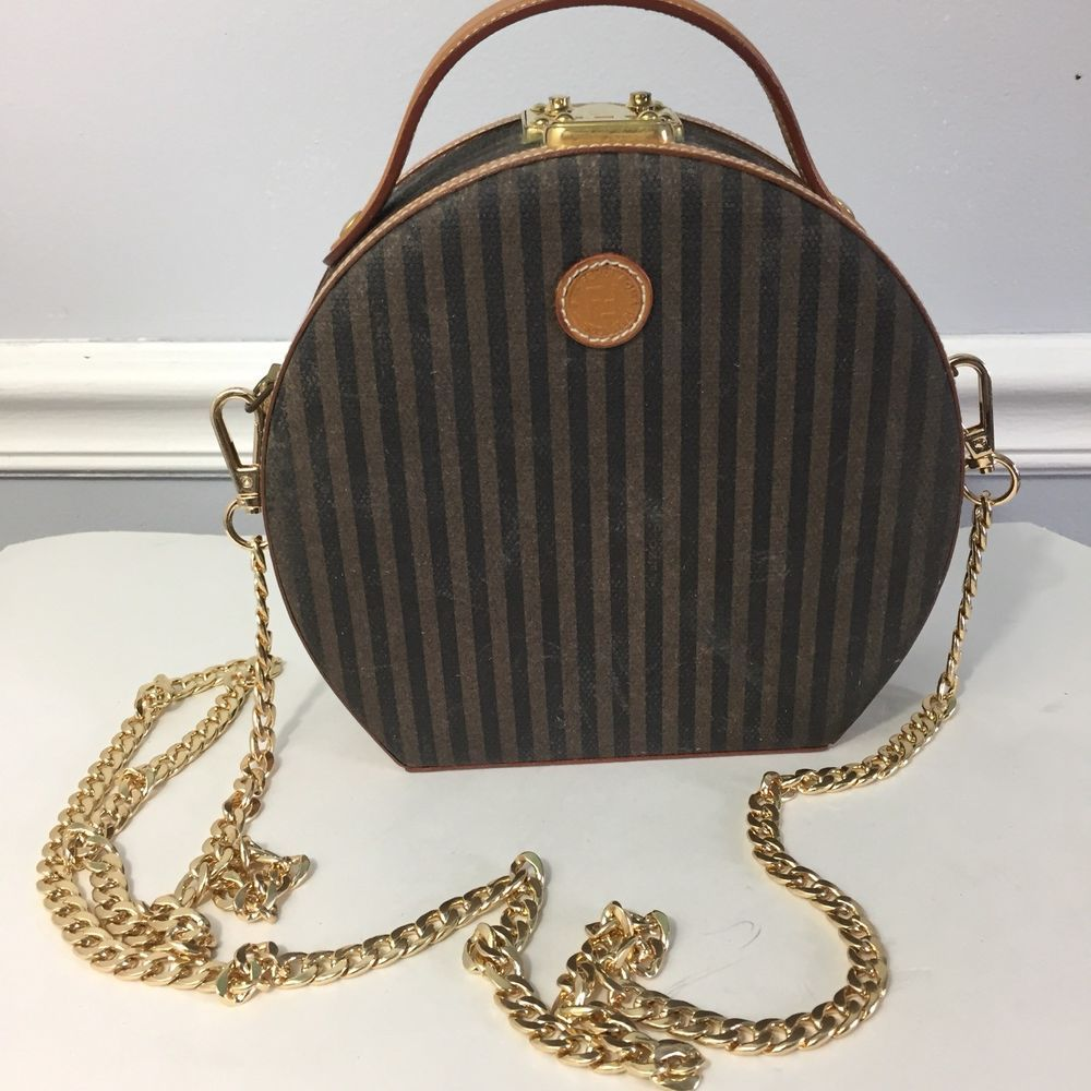 68adb398e2 Vintage FENDI Pequin Mini 2-Way Round Shoulder Bag  purses  fashion ...