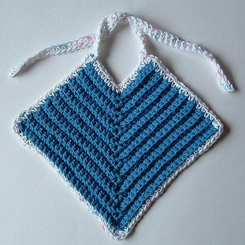 Crochet This Quick And Easy Baby Bib Pattern Using Cotton Yarn It