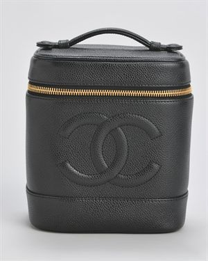 70bff84d1c1a46 Chanel Leather Vanity Pochette Makeup Bag - I would rock this like a purse,  it's too fab to store makeup.
