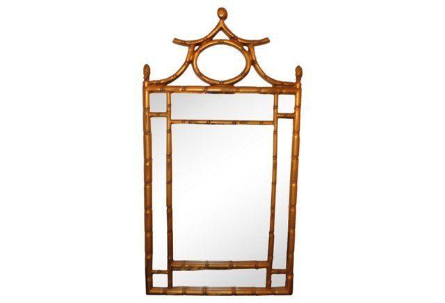 Bamboo Style Pagoda Mirror Mirror Bamboo Mirror Mirror