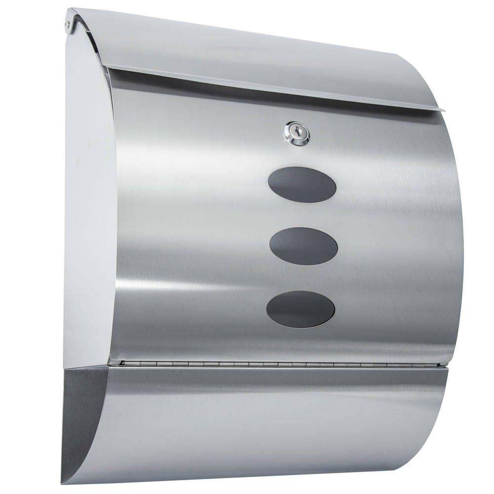 Edelstahl Briefkasten mit Zeitungsröhre rund in silber günstig ab € bei TecTake kaufen ✓ Versandkostenfrei ✓ Lieferzeit Werktage ✓ Käuferschutz ✓ Jetzt