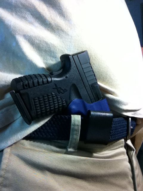Springfield Armory XDs in Appendix Carry.