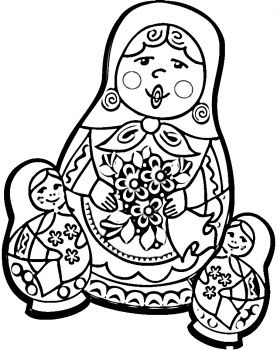 Russian Dolls Coloring Page Super Coloring With Images