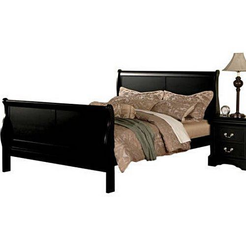 California King Bed Frame Black Cal Wood Headboard Footboard Bedroom ...