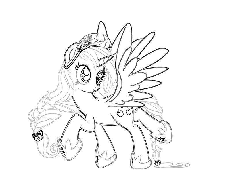 My Little Pony With Wings Coloring Pages : The little horse has wings coloring page my pony