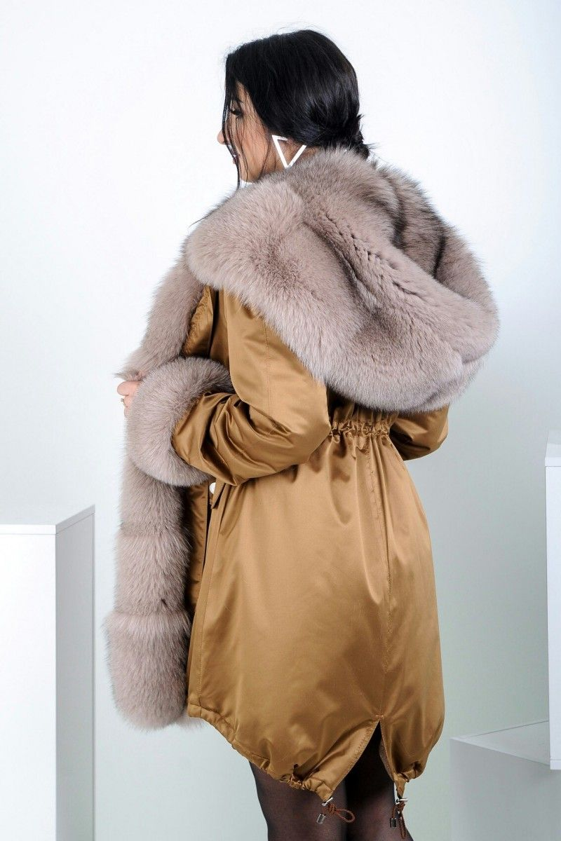 cffe5c5872d nice Парка женская зимняя с натуральным мехом (50 фото) — Разнообразие  моделей модных курток