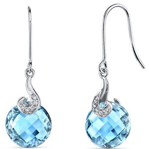 Peora.com - 14 kt White Gold 9.25 Carats Swiss Blue Topaz Diamond Earrings E18758, $249.99 (http://www.peora.com/14-kt-white-gold-9-25-carats-swiss-blue-topaz-diamond-earrings-e18758/)