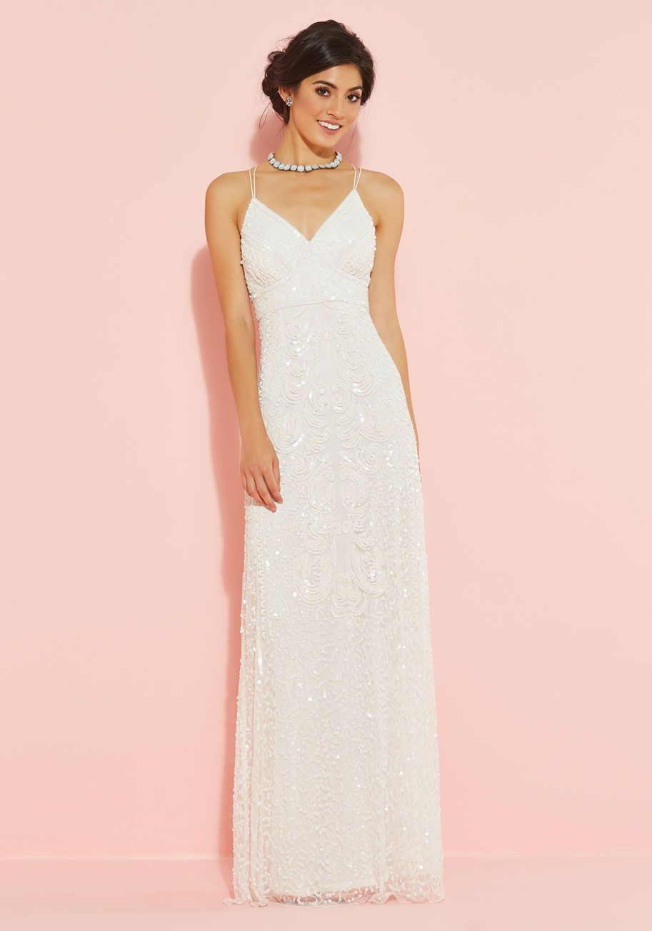 Here\'s to Glamorous Maxi Dress in White, @ModCloth | Lady Day ...