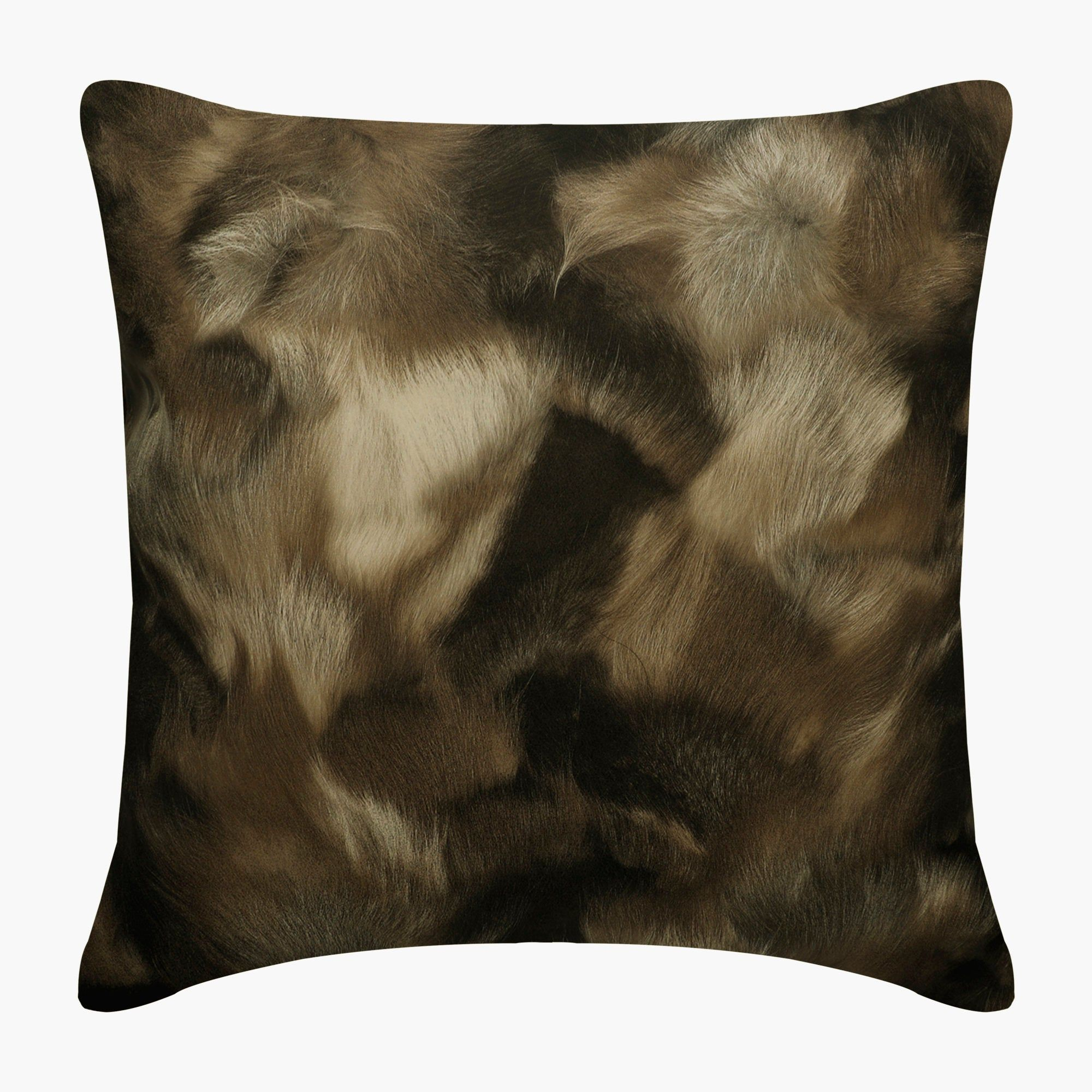 Brown Pillow Cover with Gold Texture