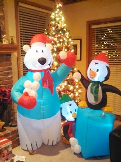 Every livingroom needs Christmas blowup toys! Thank you ...